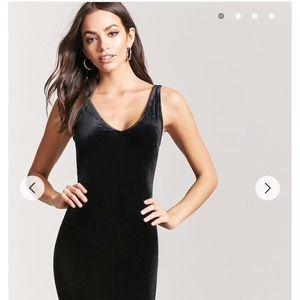 NWT. Forever 21 Black velvet tube dress. Medium.